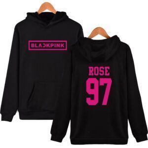 Blackpink Rose Hoodie mod1