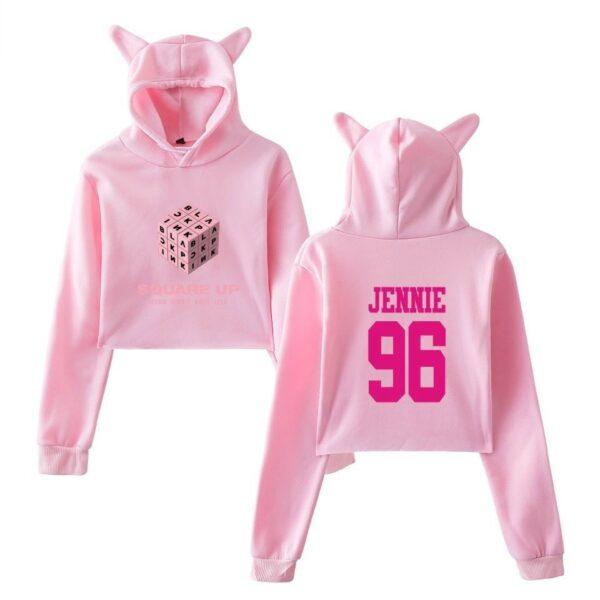 bp jennie cropped hoodie