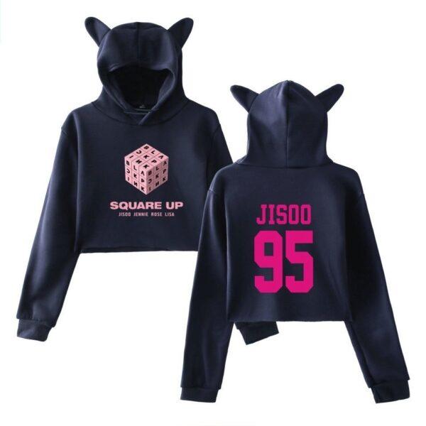 bp jisoo cropped hoodie