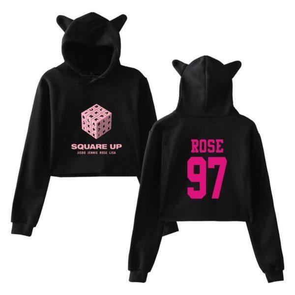bp rose cropped hoodie