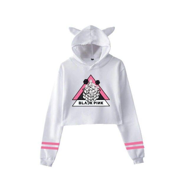 blackpink cropped hoodie